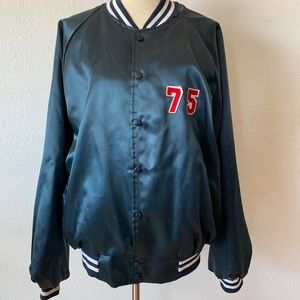 Made in USA, vintage Satin bomber XL